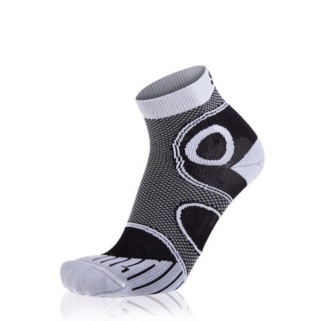 Eightsox Running-Socke – Advanced short in Schwarz/Weiß