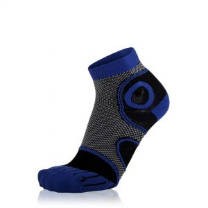 Eightsox Running-Socke – Advanced short in Blau-Schwarz