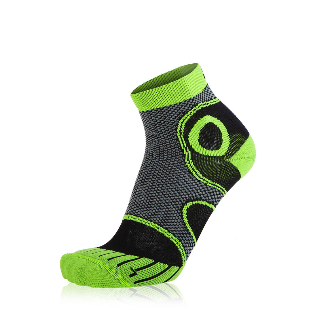 Eightsox Running-Socke – Advanced short in Schwarz/Grün