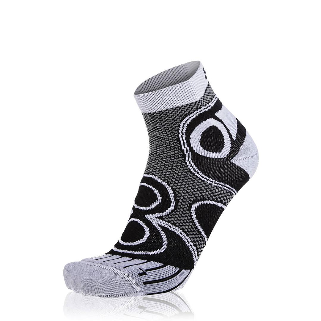 Eightsox Running-Socke – Ambition Short in schwarz/weiß