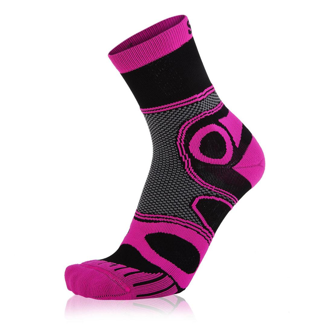 Eightsox Bike-Socke – Mountainbike in schwarz/pink