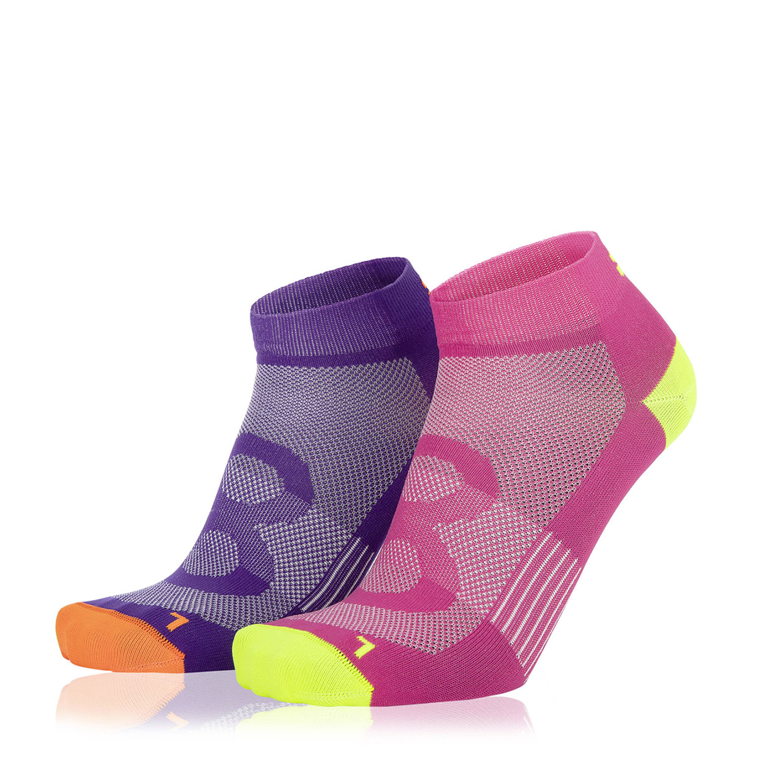 Eightsox Socken Doppelpack – Color 2 in pink/lila