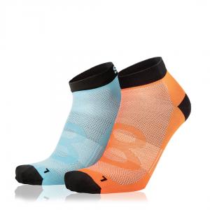 Eightsox Socken Doppelpack – Color 2 in blau/orange