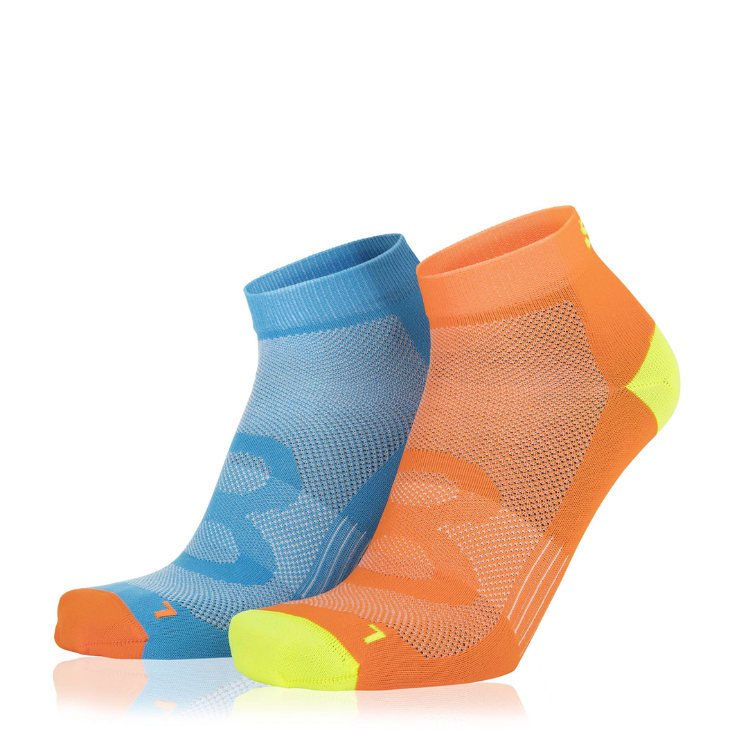 Eightsox Socken Doppelpack – Color 2 in azur/orange