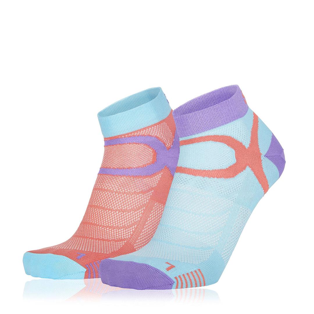 Eightsox Socken Doppelpack – Color 3 in coral/türkis