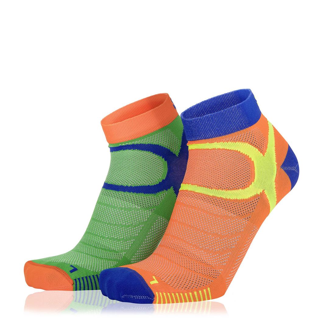 Eightsox Socken Doppelpack – Color 3 in grün/orange