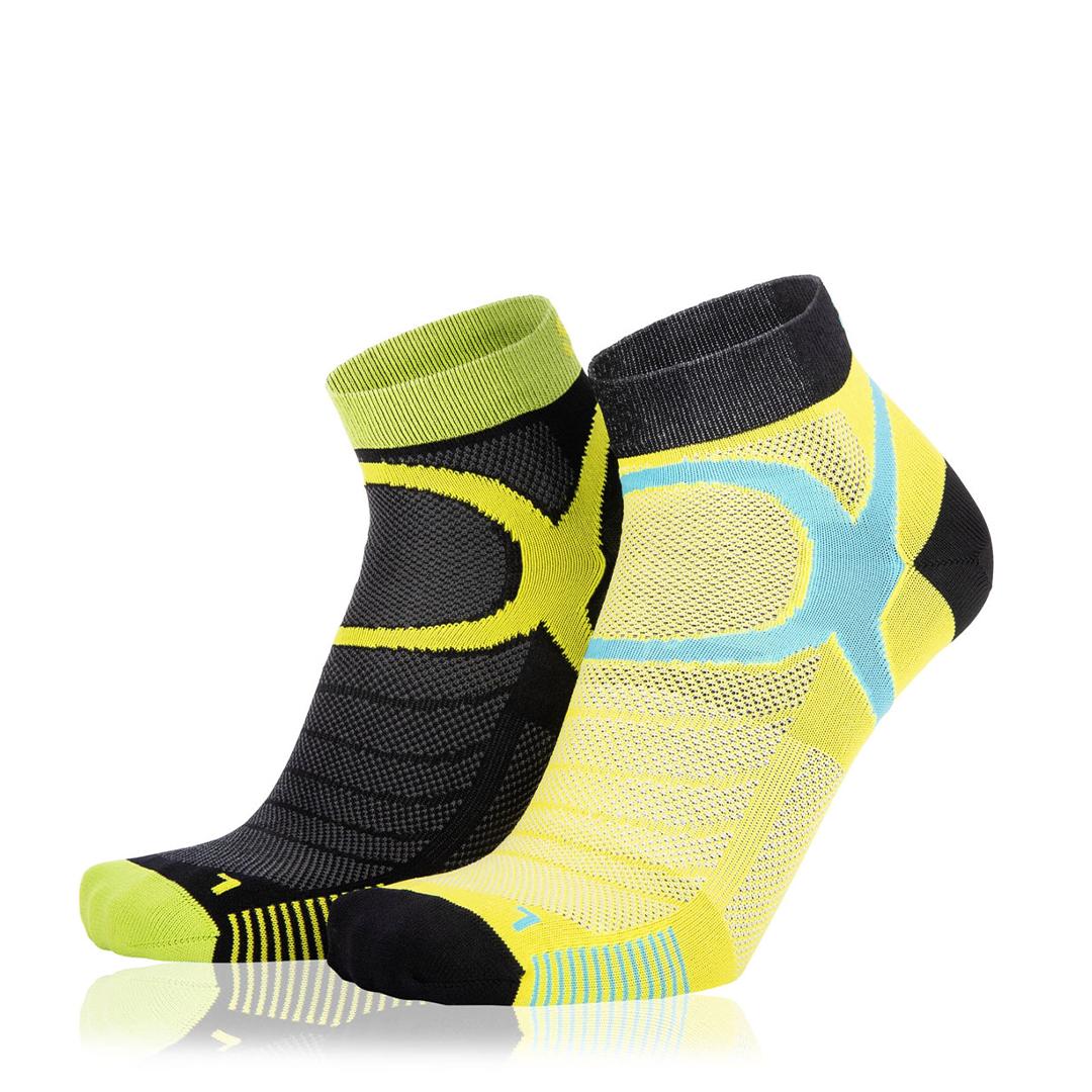Eightsox Socken Doppelpack – Color 3 in schwarz/gelb