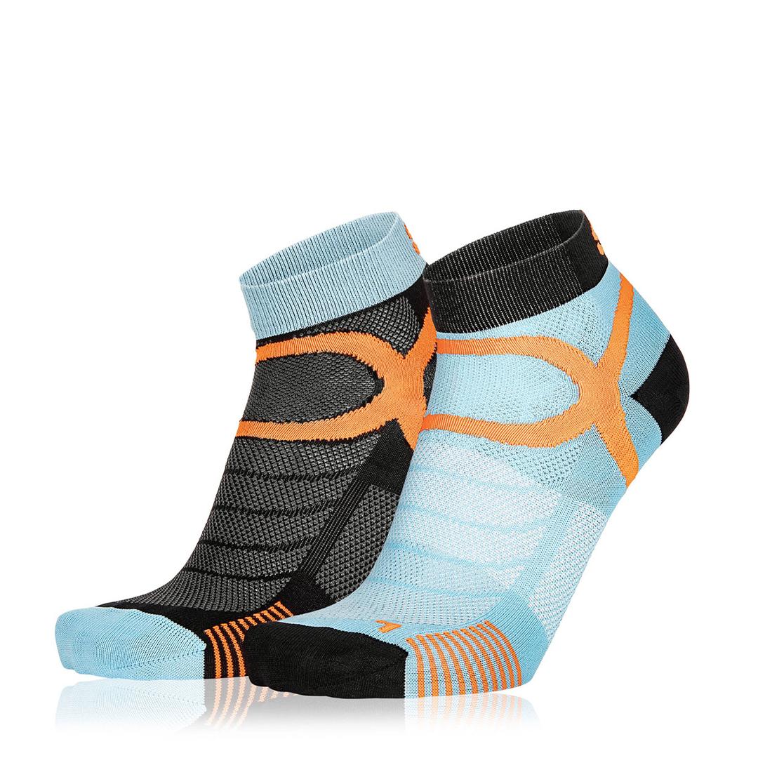 Eightsox Socken Doppelpack – Color 3 in schwarz/blau