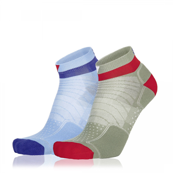 Eightsox Socken Doppelpack – Color 4 in hellblau/olive