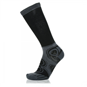 Eightsox Running-Socke – Compression Pro in Schwarz/grau