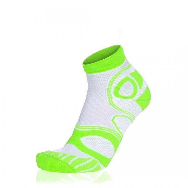 Eightsox Bike-Socke – Mountainbike Short in weiß/neon-grün