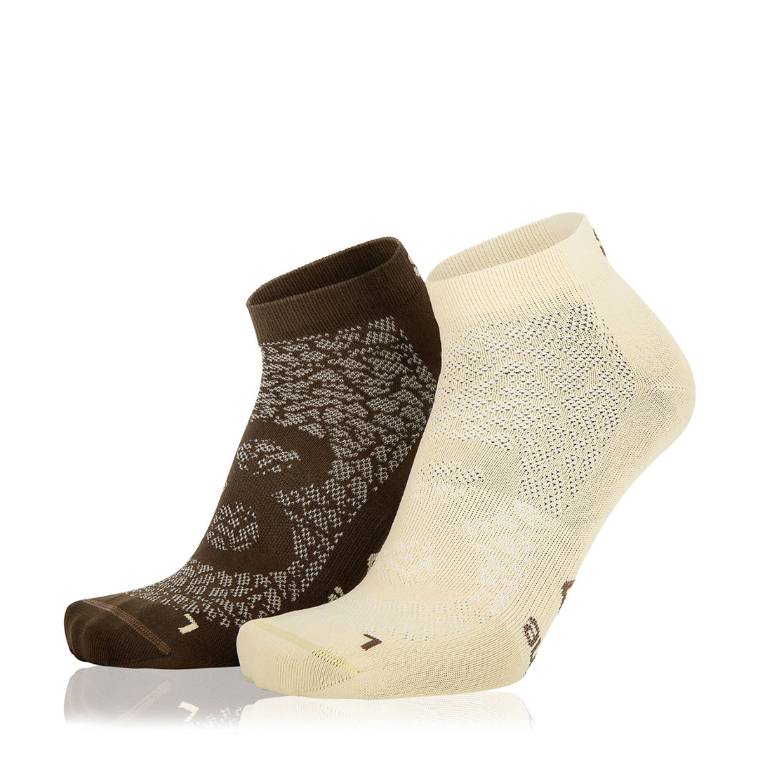 Eightsox Socken Doppelpack – Nature in beige/dark brown