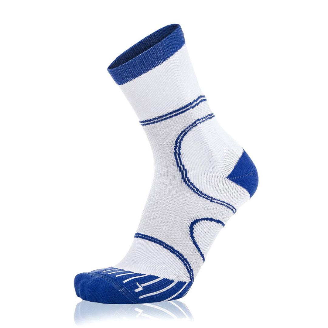 Eightsox Running-Socke – Newcomer Long in weiß-blau
