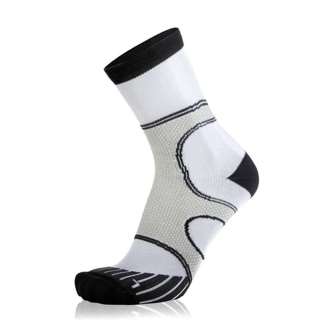 Eightsox Running-Socke – Newcomer Long in weiß-schwarz