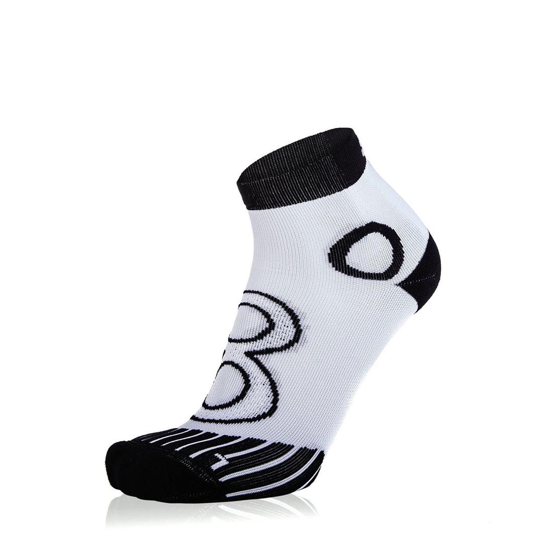 Eightsox Running-Socke – Newcomer Short weiß-schwarz
