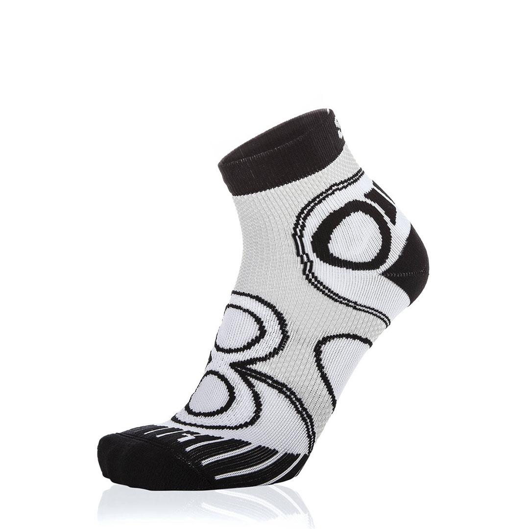 Eightsox Running-Socke – Pro short in weiß-schwarz