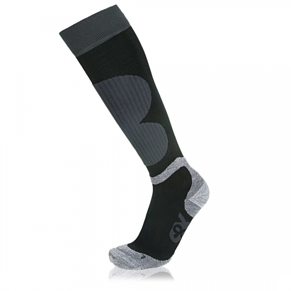Eightsox Ski-Socke – Power in schwarz/grau