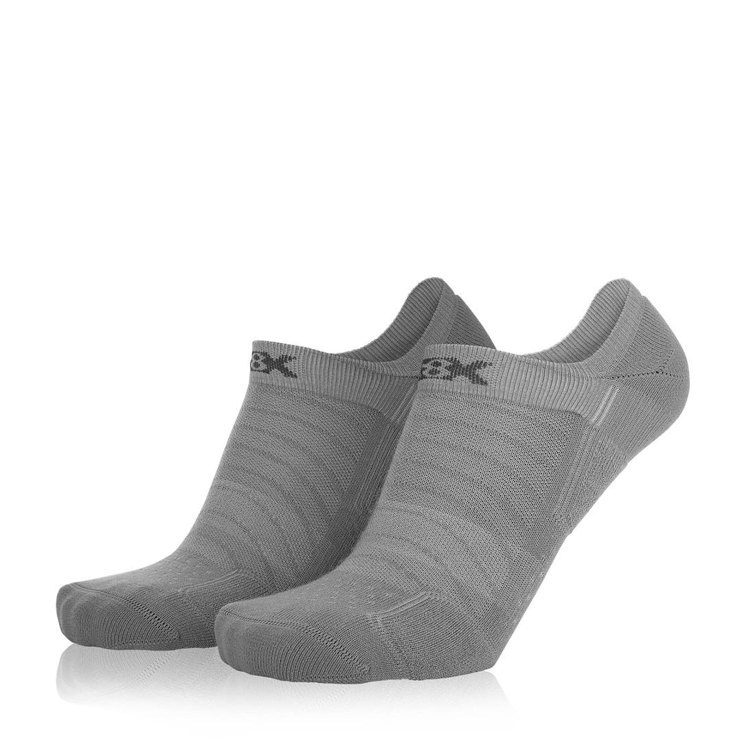 Eightsox Socken Doppelpack – Sneaker Merino in grau