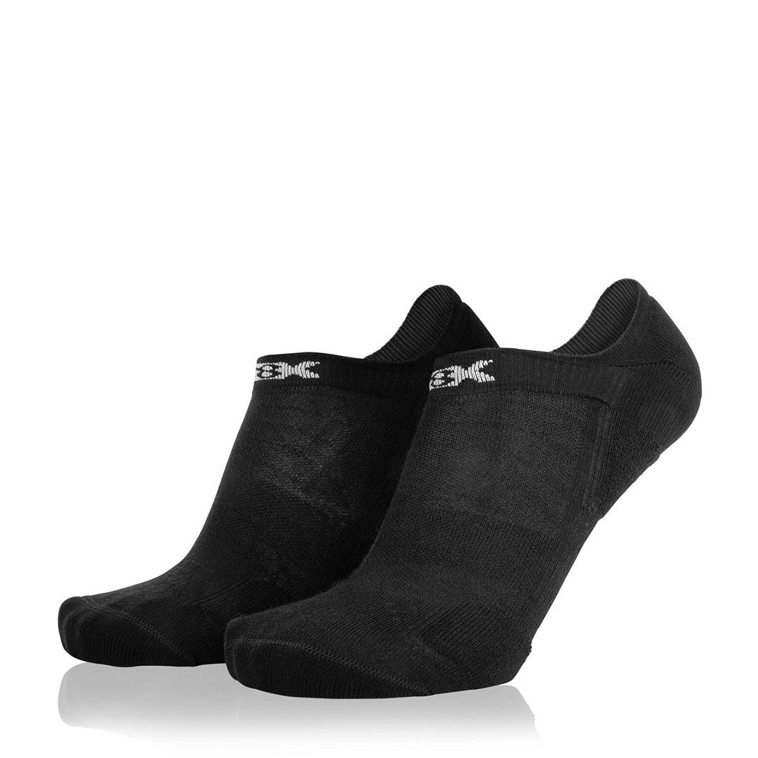 Eightsox Socken Doppelpack – Sneaker Merino in schwarz
