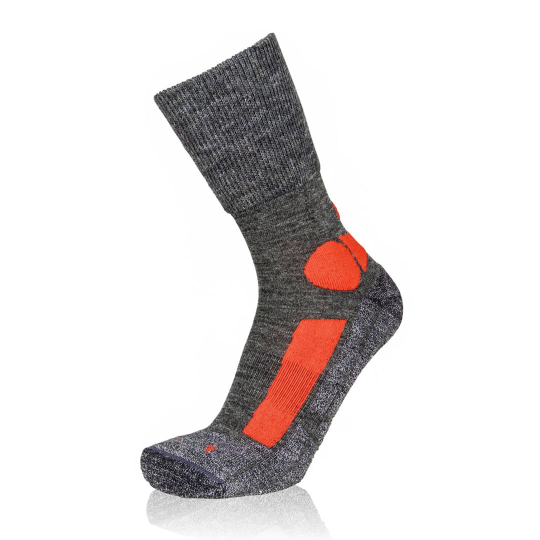Eightsox Trekking-Socke – TK Merino in grau/rot
