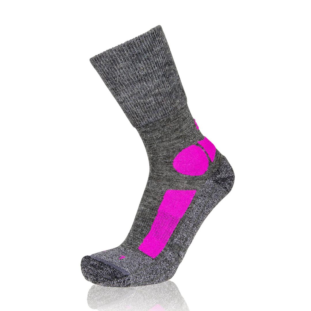 Eightsox Trekking-Socke – TK Merino in grau/pink