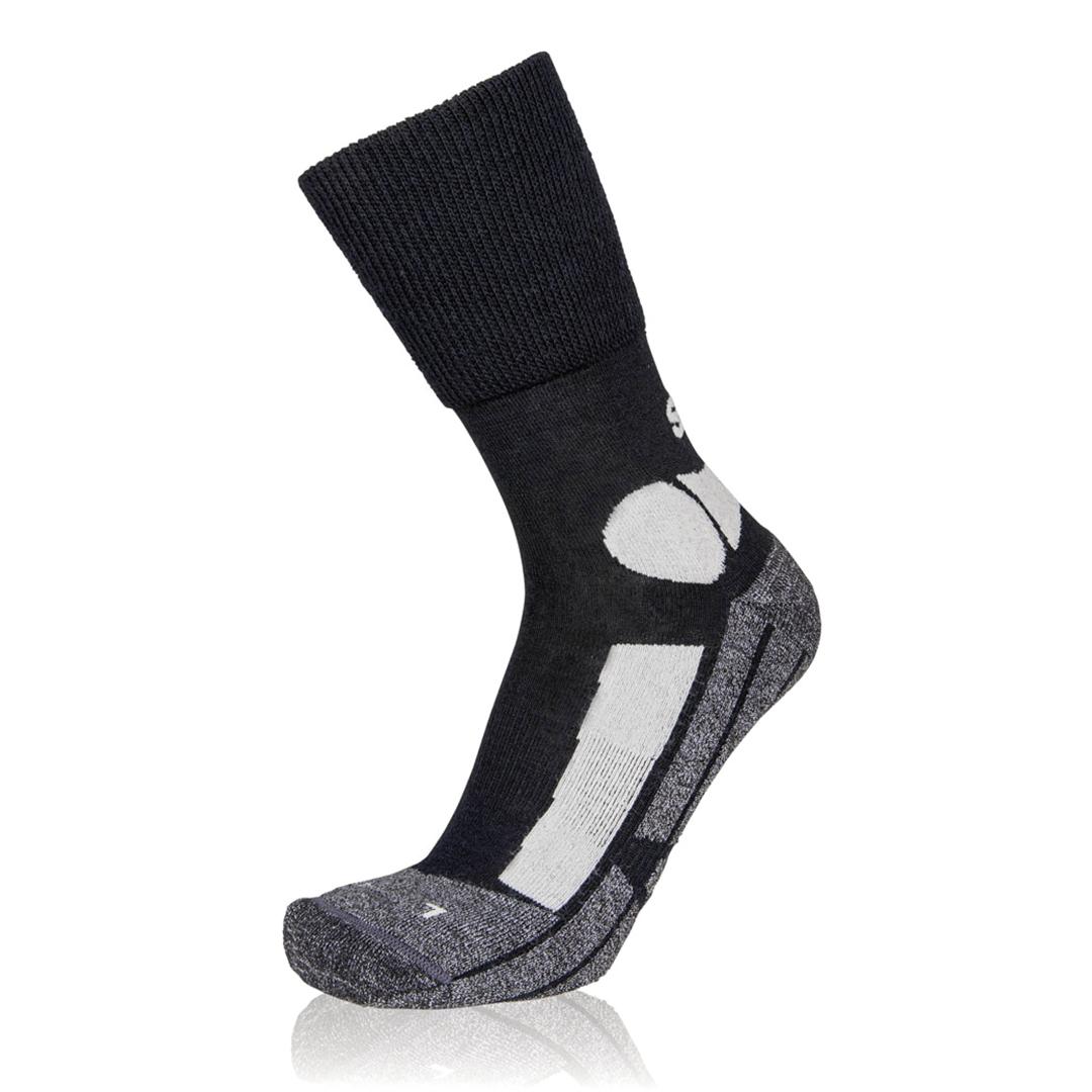 Eightsox Trekking-Socke – TK Merino in schwarz/silber
