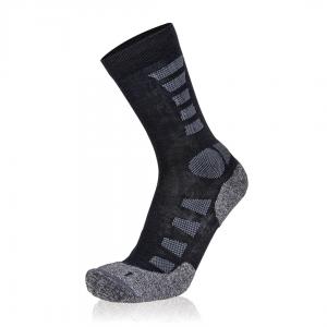 Eightsox Trekking-Socke – TK Merino Light in schwarz/anthrazit