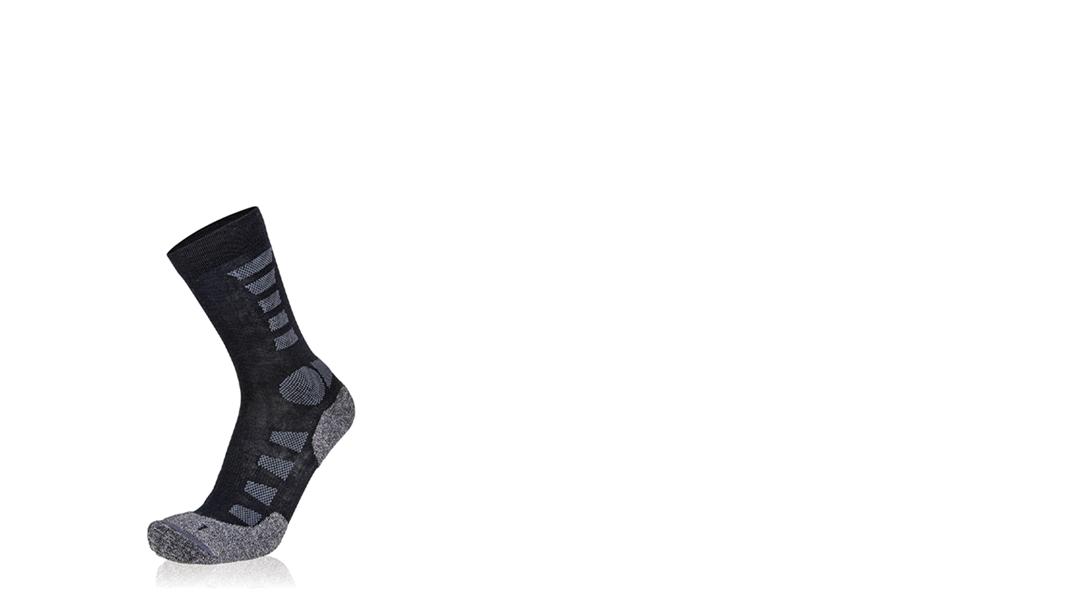 Eighstox Trekking Socke Merino  Light in Grau/schwarz